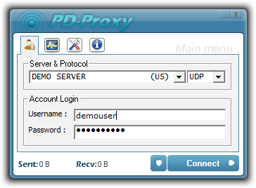 PD-Proxy VPN Screenshot