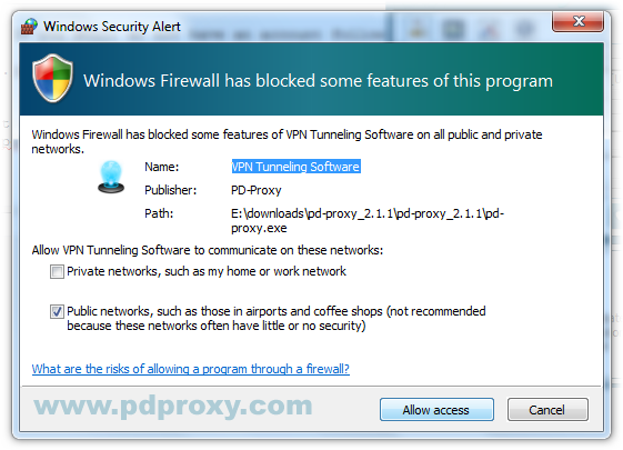 Allow PD-Proxy in Firewall